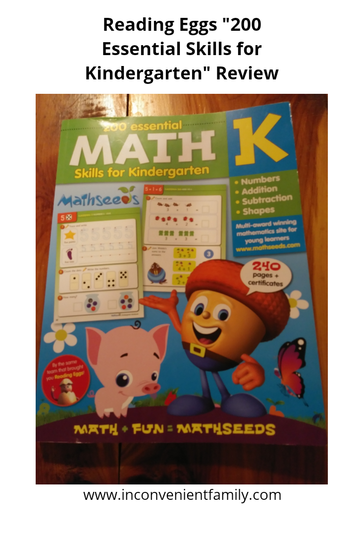 """200 Essential Math Skills for Kindergarten"" Review & a Free Trial!"
